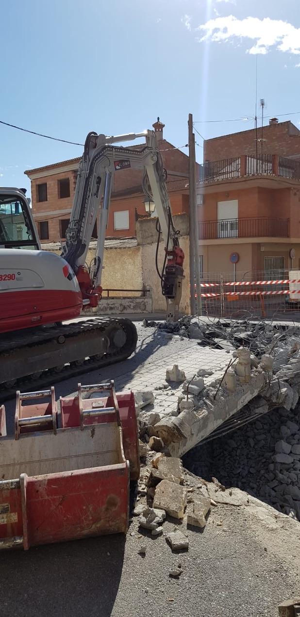 demolición puente